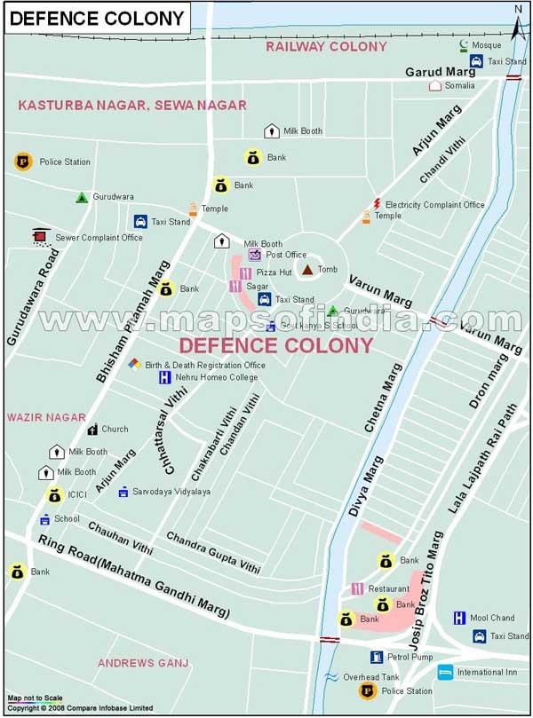 Defence Colony、GK-I、GK-Ⅱ、Panchsheel Park | 周辺地図